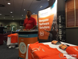 IT Enterprise Exhibition Business Growth Show 2016 West Ham Monkey raj Mistry Popup Banner