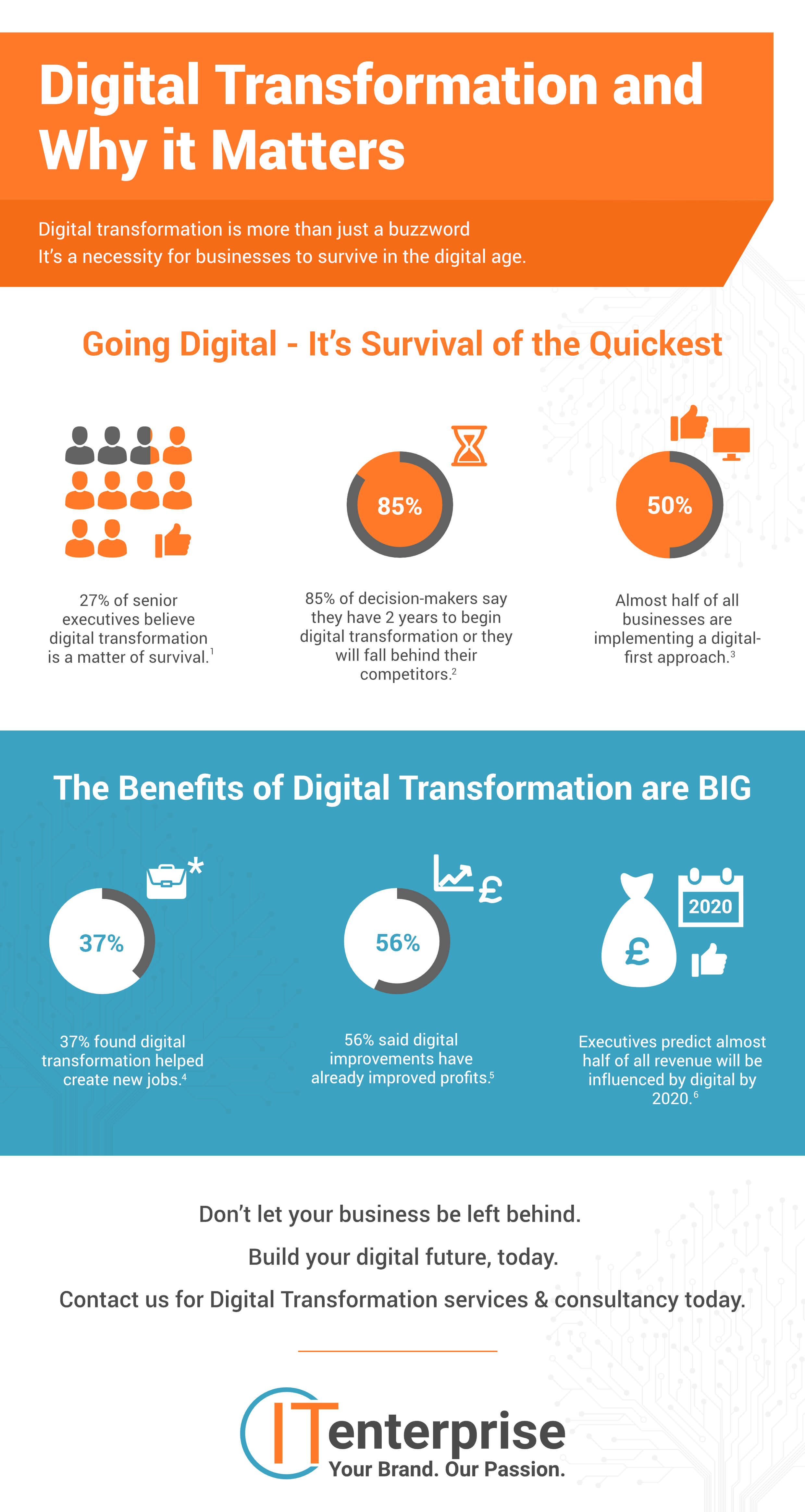 Infographic Displaying why Digital Transformation is Important