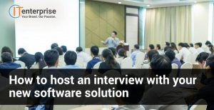 How to host an interview with your new software solution-min